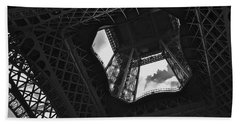 Bath Towel featuring the photograph Inside The Eiffel Tower by Eric Tressler