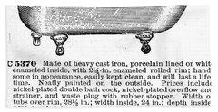 Iron Bathtub, 1900 Hand Towel