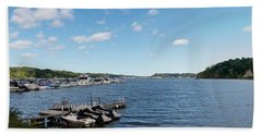Bath Towel featuring the photograph Irondequoit Bay Panorama by William Norton
