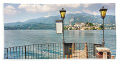 Island San Giulio On Lake Orta Hand Towel