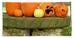 Bath Towel featuring the photograph Jack-0-lanterns by Lainie Wrightson