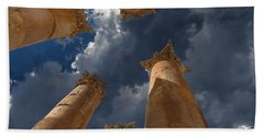 Hand Towel featuring the photograph Jerash by David Gleeson