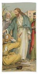 Jesus And The Blind Men Bath Towel
