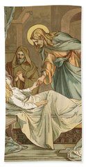 Jesus Raising Jairus's Daughter Bath Towel