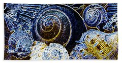 Abstract Seashell Art Bath Towel by Carol F Austin