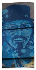 Bath Towel featuring the digital art Johnny On The Wall by Carol Ailles