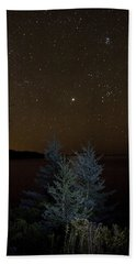 Jupiter  Over Otter Point 2 Bath Towel by Brent L Ander
