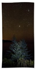 Jupiter  Over Otter Point 3 Bath Towel by Brent L Ander