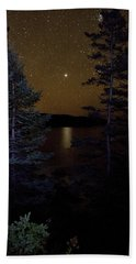 Jupiter Rising Over Otter Point Bath Towel by Brent L Ander