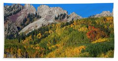 Hand Towel featuring the photograph Kebler Pass by Jim Garrison