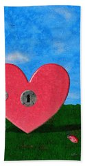 Key To My Heart Hand Towel by Jeff Kolker