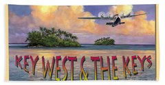 Hand Towel featuring the painting Key West Air Force by David  Van Hulst