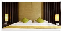 Hand Towel featuring the photograph King Size Bed by Atiketta Sangasaeng