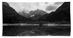 Kranjska Gora In Black And White Bath Towel