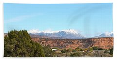 La Sal Mountains Hand Towel