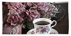 Ladies Tea Time Hand Towel by Sherry Hallemeier
