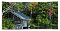 Bath Towel featuring the photograph Lake Chocoura Boathouse by Betty Denise