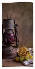 Lamp And Fruits Hand Towel by Nailia Schwarz
