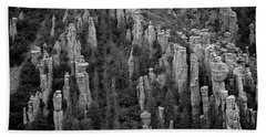 Bath Towel featuring the photograph Land Of Standing Up Rock  by Vicki Pelham