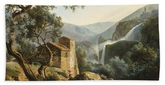 Landscape With A Waterfall Hand Towel