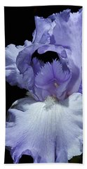 Lavender Blue Iris Bath Towel