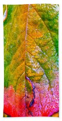 Hand Towel featuring the photograph Leaf 2 by Bill Owen