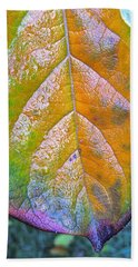 Hand Towel featuring the photograph Leaf by Bill Owen