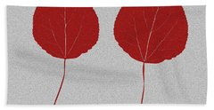 Leafs Rouge Hand Towel by Bruce Stanfield