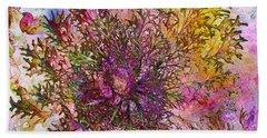 Bath Towel featuring the digital art Leafy Greens by Barbara Berney