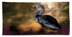 Leda And The Swan Bath Towel by Rosa Cobos