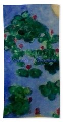 Hand Towel featuring the painting Lily Pond by Sonali Gangane