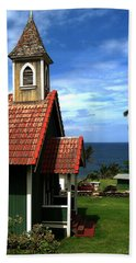 Little Green Church In Hawaii Hand Towel