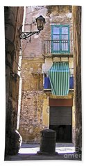 Little Street Of Palermo Hand Towel