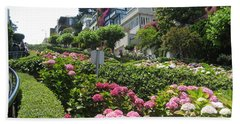 Hand Towel featuring the photograph Lombard Street by Dany Lison