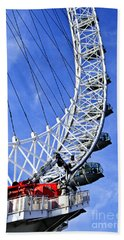 London Eye Hand Towel by Elena Elisseeva