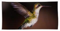 Lone Hummingbird Hand Towel