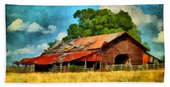 Long Road Barn Hand Towel by Lynne Jenkins
