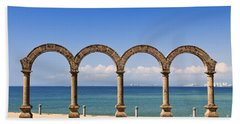 Los Arcos Amphitheater In Puerto Vallarta Hand Towel
