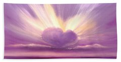 Love At Sunset Bath Towel