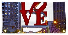 Hand Towel featuring the photograph Love In Philadelphia by Alice Gipson