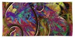 Bath Towel featuring the digital art Love Letters B by Barbara Berney