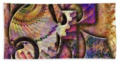 Bath Towel featuring the digital art Love Letters E by Barbara Berney