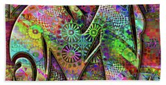 Bath Towel featuring the digital art Love Letters M by Barbara Berney