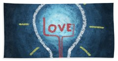 Love Word In Light Bulb Hand Towel
