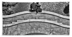 Lovers On A Bridge  Bath Towel