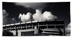 Lsu Tiger Stadium Black And White Hand Towel