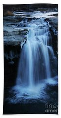 Hand Towel featuring the photograph Lundbreck Falls by Alyce Taylor