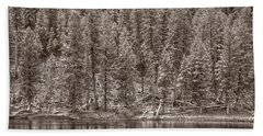 Madison River Yellowstone Bw Bath Towel