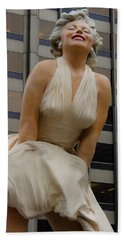 Magnificent Marilyn Bath Towel by Julia Wilcox