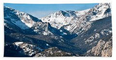 Majestic Rockies Hand Towel by Colleen Coccia